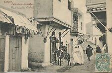 Postcard - LE MAROC  / TANGER CALLE DE LA ALCAZABA + CACHET
