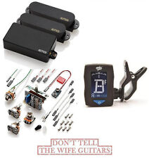 EMG SA SA 85 HSS STRAT PICKUPS SET BLACK ( FREE TUNER ) Stratocaster Style