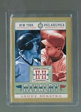 LENNY DYKSTRA #R18 METS / PHILLIES RIVALRY Gold Version 2013 Hometown Heroes