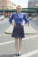 Damen Rock Faltenrock lila bunt violett skirt Gr. 36 80er True VINTAGE 80s women