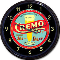 Cremo Brewing CO New Britain CT beer Tray Wall Clock Ale Lager Brew Man Cave 10""