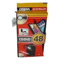 Omega 23648 CD/DVD 48 Disc Protective Carry Case Holder Lightweight Storage New