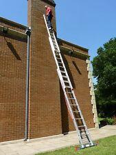 3 Section EN131 Trade Extension Ladder / Ladders 3.99m-7.96m with Stabiliser Bar