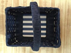 Adorable Navy Blue Basket for your Cards, Coasters and Cozies.