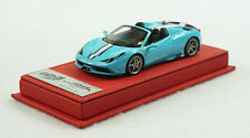 1/43 BBR FERRARI 458 SPECIALE A BABY BLUE RED DELUXE LEATHER LIMITED 20 PC MR