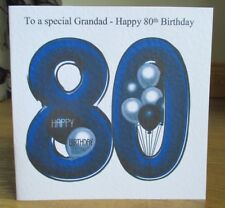 Personalised Handmade Balloons 80th Birthday Card Dad Grandad Brother Grandpa