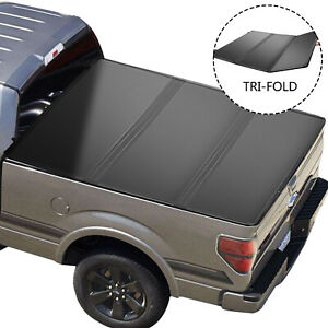 2009-19 For Dodge Ram 1500 Crew Cab 5.7FT Bed Hard Lights Tri-Fold Tonneau Cover