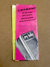1967 Cry Baby 2-fold Operating Instruction Brochure