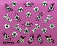 Nail Art 3D Decal Stickers Pearlescent Sunflowers YGYY144