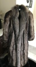 Womens Real Silver Fox Fur Coat/Jacket Medium-Large. 8-10.  Not Mink Sable Lynx