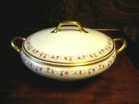 ANTIQUE / VINTAGE BAWO & DOTTER LIMOGES ELITE WORKS GILDED COVERED SERVING DISH