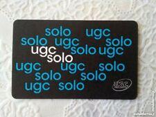 Places de cinéma UGC SOLO valables jusqu'au 31/12/2020 dans toutes les salles