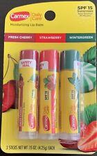 New  Carmex Daily Care Lip Balm Variety Black Cherry Strawberry WinterGreen