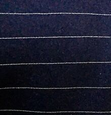 Material, 100% Polyester Fabric, Navy/ Sliver, By the Yard, 5 Yards Available