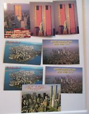 LOT of 8 WORLD TRADE CENTER  unused POSTCARDS NEW YORK CITY