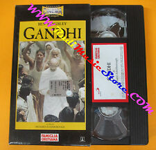 VHS film GANDHI Ben Kingsley Richard Attenborough FAMIGLIA CRISTIANA(F139)no dvd