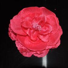 Pfingstrose ROSA PINK Blume ROSE Brosche Ansteckblume Fascinator Haarschmuck NEU