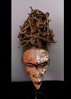 Old Tribal Bakongo Nail Fetish   Mask    ---  Congo