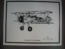 Boeing PT 17 STEARMAN by Dale Adkins WWII Aviation Art Airplane Aircraft PRINT *