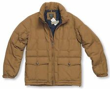 *NEW* J.Crew Men's Medium Dacota Down Jacket w/ Storable Hood - Caramel  *NWT*
