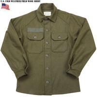 RARE OG-108 KOREAN WAR M1951 GREEN WOOL FIELD BUTTON FRONT UNIFORM SHIRT