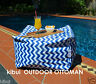 Ottoman Bean Bag Waterproof Table Foot Rest Including Liner 60x60x40cm Kibui New
