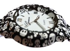 FUNKY Womens Ladies Girls Stylish Skull Skulls Design Quartz Fashion Wrist Watch