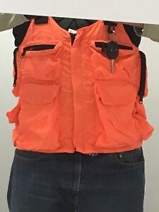 Blaze Orange Hunting Vest W/ Suspenders 8 Pockets Size 3XL New I-5