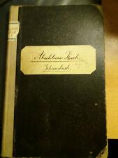 Geschäftsbuch Farbenfabrik Wilhelm Brauns 1908-1923 Quedlinburg Handschrift