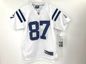 Reebok Indianapolis Colts Jersey Reggie Wayne Youth M Medium White NFL NEW 87