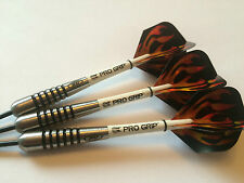 28g 80% TUNGSTEN HOLO FLAME BOMBS Dart Set, Holographic Flights & Progrip Stems