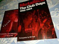 METALLICA very rare DVD upgrade live tour 1989 + the club dayz book 1982-1984