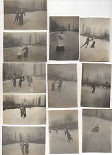 11 PHOTOS Lot Chambery Patinage artistique Patineur patin sports d'hiver 1931