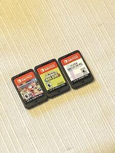 Nintendo Switch Lot Mario Kart 8 Deluxe Super Smash Bros And Deluxe 3 Games