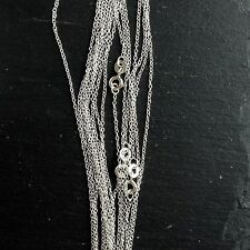 """Sterling Silver Trace chain necklace 20"""""""