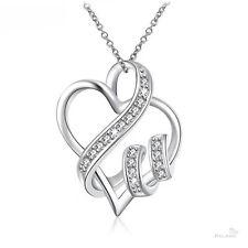 Halskette Anhänger Herz Zirkonia Kristall Strass Sterling Silber plt. Palano NEU