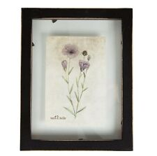 "Rustic floating photo frame. Wall hanging. 6"" x4"" photo. Black. Shabby chic.Gift"