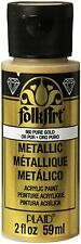FolkArt Acrylic Metallic Paint 2 Ounce Pure Gold 2 Fl Oz