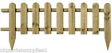 Large Wooden Panel Picket Fencing - Wood Garden Border Fence