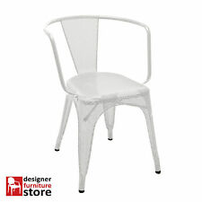 Replica Tolix Stackable Cafe Armchair Perforated/Mesh – White