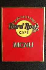 HRC Hard Rock Cafe Online Staff Red Menu polished back