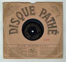78T 21cm SAPHIR Disque Phono LE CHABRILLANT - MESSE St HUBERT Trompes PATHE 6962