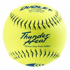 4U-551Y Dudley Usssa Thunder Heat Slow Pitch Classic M Softballs Leather 1 Dozen