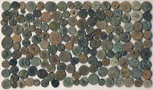 157 ANCIENT ROMAN COPPER COINS (EX-TEXAS ESTATE, AUTHENTIC, BIG LOT !!!) NO RSV