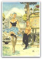 Ex-libris Félix Meynet Pin-up 2021 Paris Pigalle Métro 199ex signé 21x29,7 cm