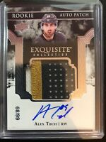 2017-18 Exquisite Alex Tuch Rookie Auto 3 Color Patch Vegas Golden Knights /89