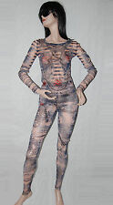 Authentic Jean Paul GAULTIER Womans Tattoo Suit Pants and Top Medium