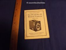 1933 Manual Eastman Kodak Six 20 Six 16 Brownie Cameras Booklet Rochester NY