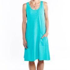 FRESH PRODUCE Large Luna Blue Slub Cotton DRAPE Tank Dress NWT New L