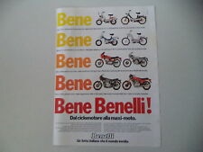 advertising Pubblicità 1979 BENELLI MINI MOTORELLA/G-2/900 SEI/125 2C/MAGNUM/254